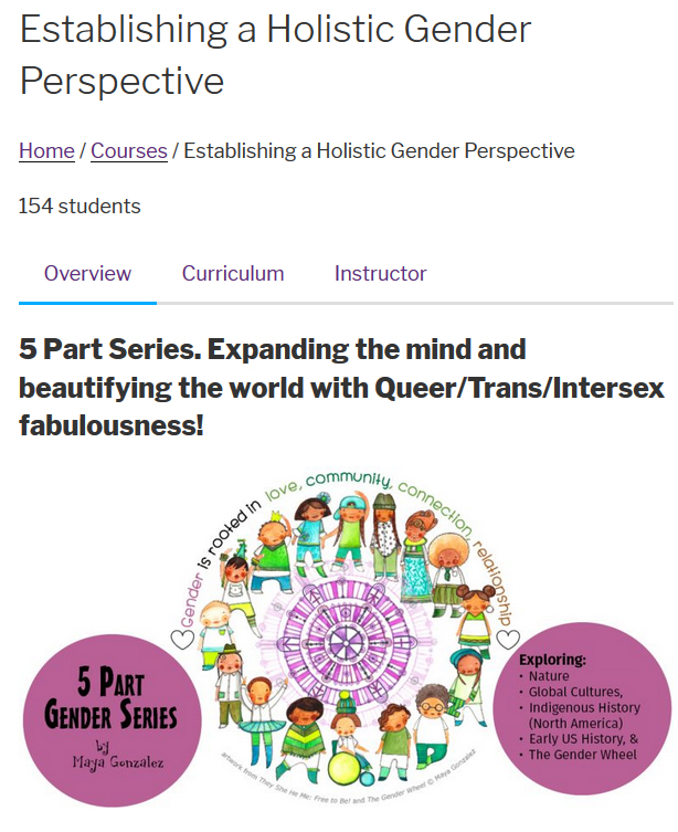 5 Part Gender Series Online Course
