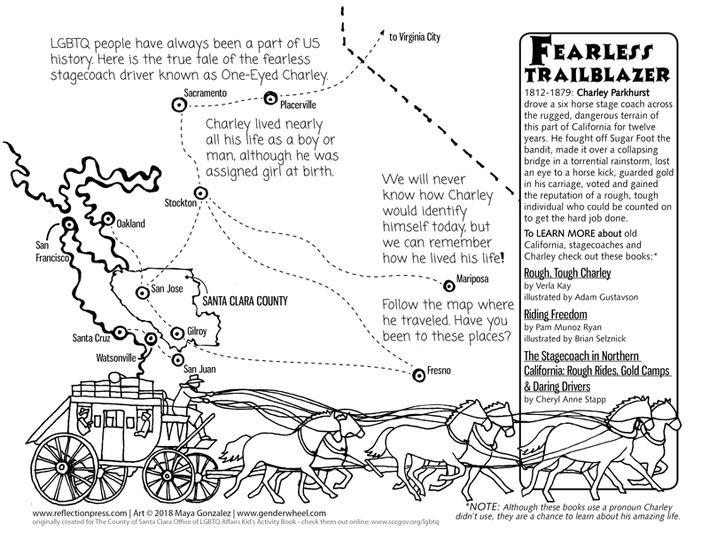 Charley Parkhurst Coloring/Activity Sheet