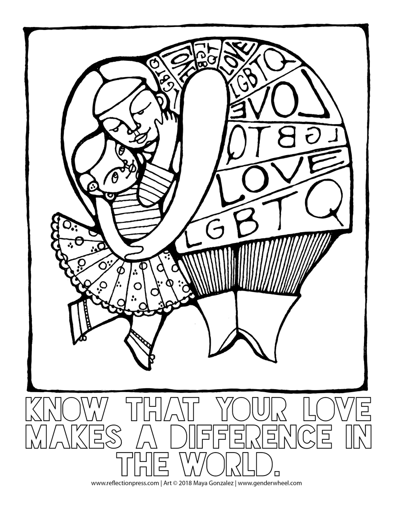 LGBTQ Love Coloring Pages