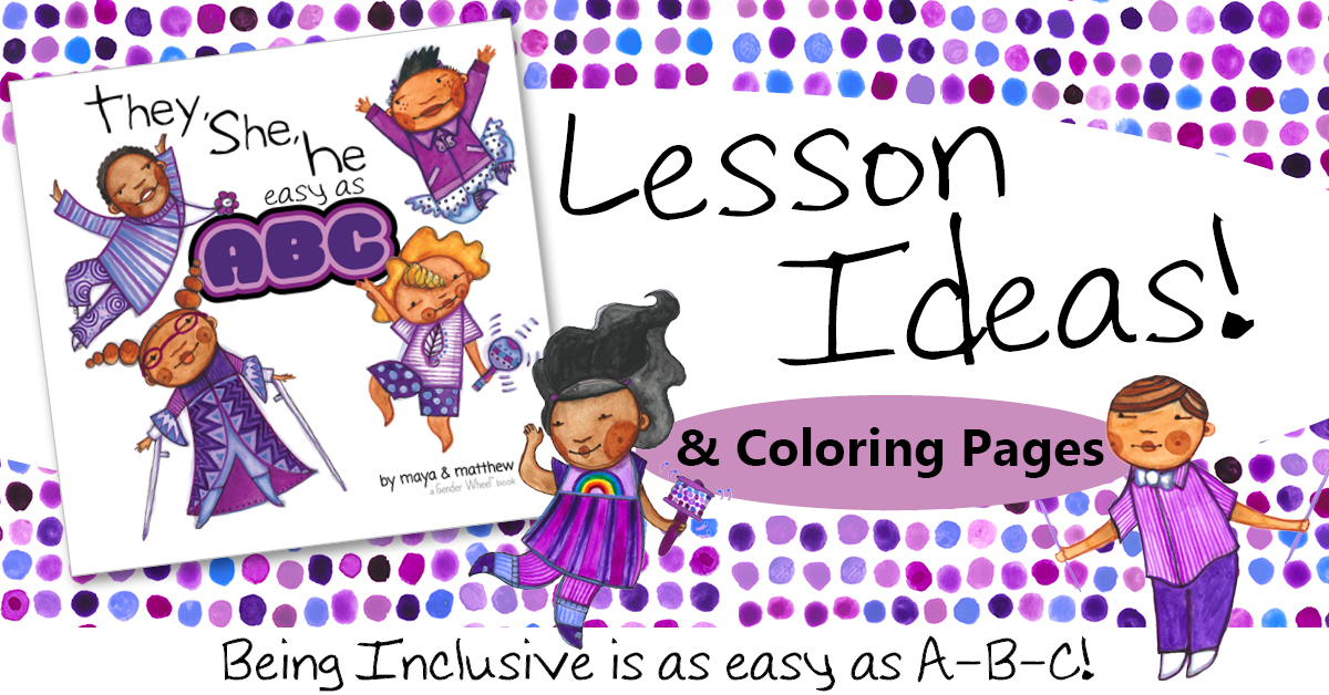 Lesson Ideas and Coloring Pages for They, She, He easy as ABC