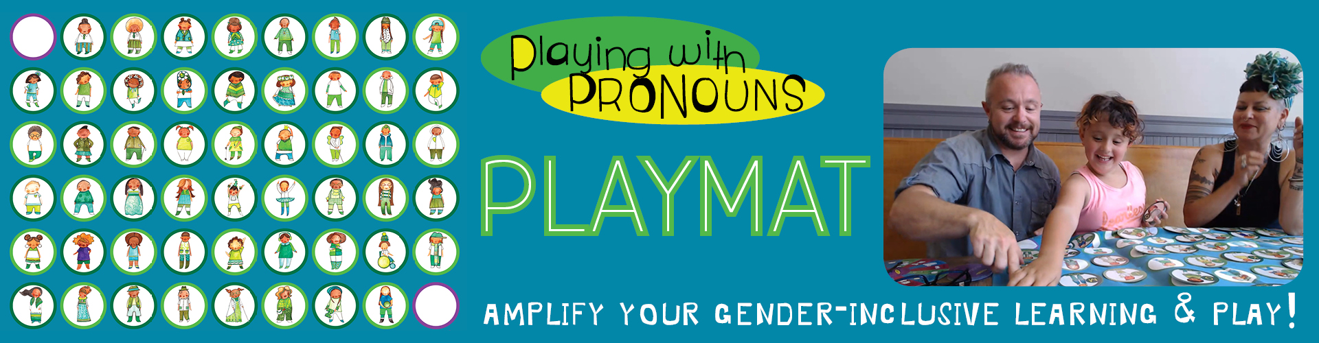 Playing with Pronouns Playmat