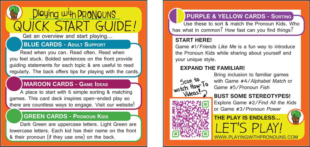 Quick Start Guide for Playing with Pronouns Card Deck