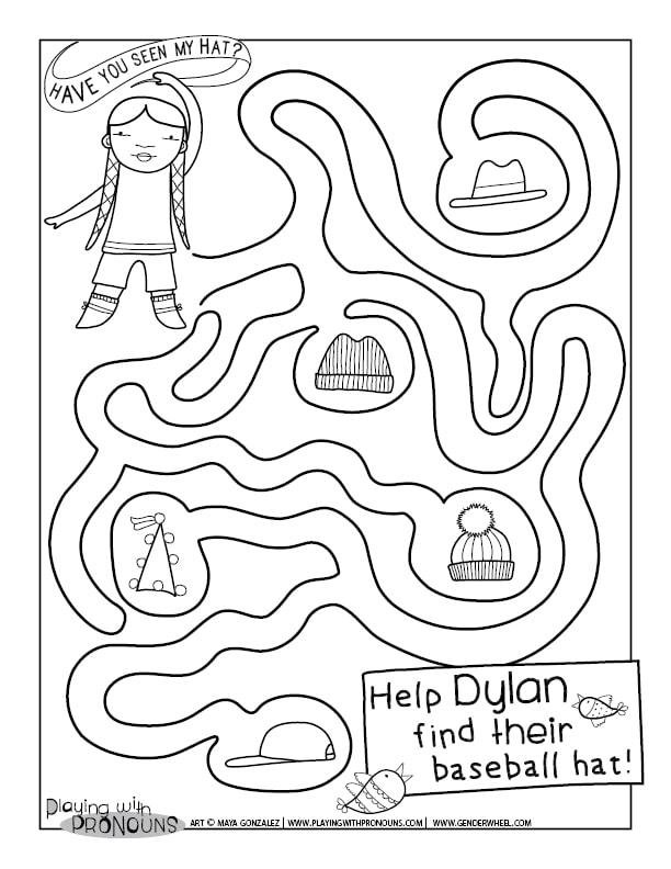 Find Dylan's Hat - Gender Wheel Curriculum