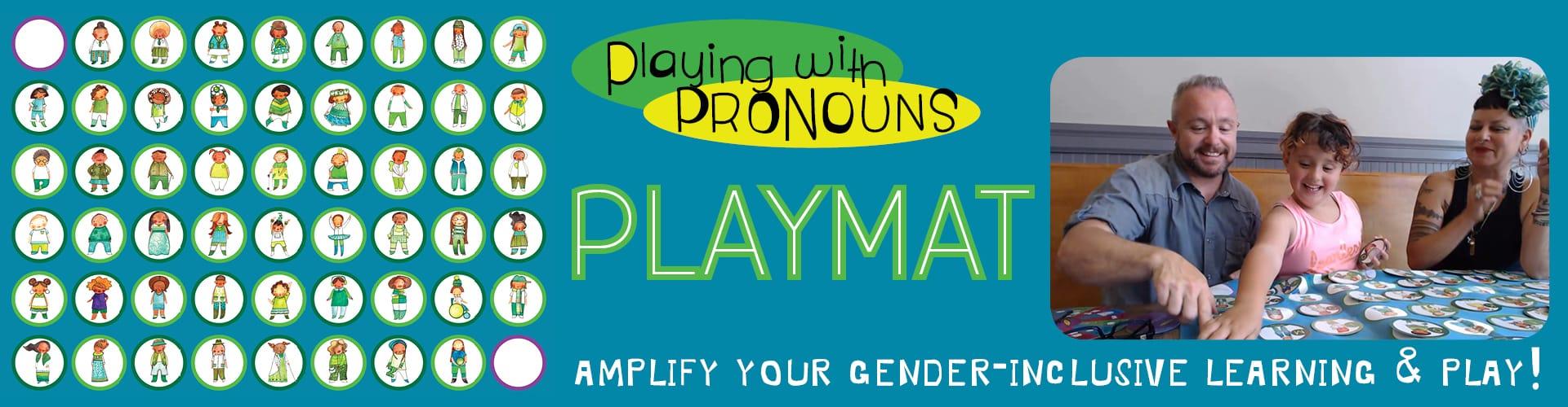 Playing with Pronouns Playmat